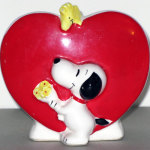 Snoopy and Woodstock heart Planter