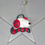 Snoopy Star Ornament