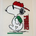 Snoopy wearing backpack T-shirt Transfer