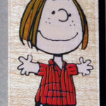 Peppermint Patty standing Rubber Stamp