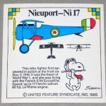 Snoopy and Nieuport-Ni17 WWI Airplane Sticker