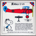 Snoopy and Fokker D VII WWI Airplane Sticker