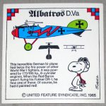 Snoopy and Albatros D.Va WWI Airplane Sticker