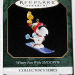 Snoopy and Woodstock Skiing Ornament