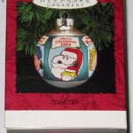 Peanuts Gang saying Merry Christmas in different languages Ornament