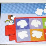 Snoopy Flying Ace Stamp Self-mailing Note