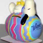 Snoopy on Easter Egg Bank - Purple