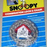 Snoopy Combination Lock & Chain – Silver Glitter
