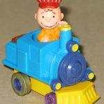Charlie Brown Train Pop N' Go McDonald's Toy