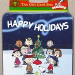 Peanuts Gang around Christmas Tree Gift Card Holder Box