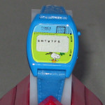 Snoopy animated soccer Blue Kid's Digital Watch