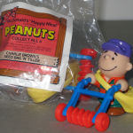Charlie Brown's Feed Bag & Tiller McDonald's Toy