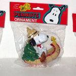 Set of 3 Vehicle Snoopy & Woodstock Ornaments