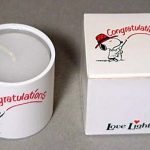 "Snoopy Love Lights Candle, ""Congratulations"""