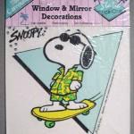 Joe Cool on Skateboard Static Stick-Ons Window Cling