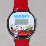 Snoopy watching Woodstocks on toy train Digital Kids Watch
