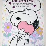 Snoopy Daughter Valentine Greeting Card