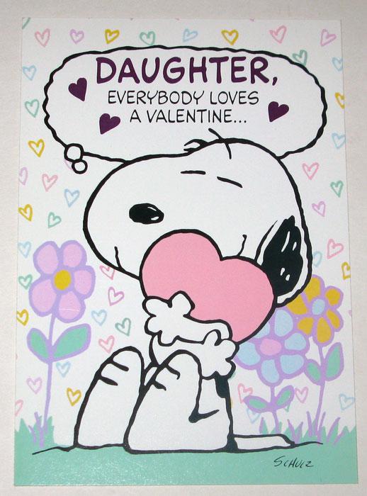 Snoopy daughter valentine greeting card collectpeanuts snoopy daughter valentine greeting card m4hsunfo