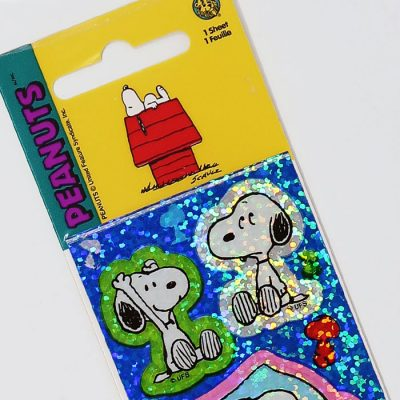 Snoopy multi-poses prismatic Stickers