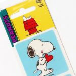 Snoopy standing with heart Fuzzy Stickers