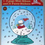 Snoopy & Peanuts Gang 31 Fuzzy Stickers and Album