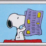 Snoopy reading paper Sticker – #58
