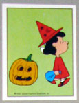 Lucy as witch with pumpkin Sticker – #127