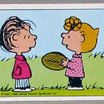 Sally and Linus with football Sticker – #167