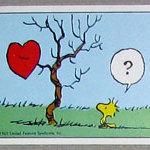 Woodstock with heart in tree Sticker – #270