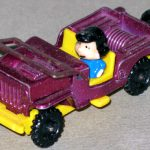 Lucy in Purple Jeep