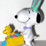 Easter Beagle pushing wheelbarrow PVC Figurine