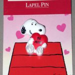 Snoopy with Heart 'Be Mine' Lapel Pin