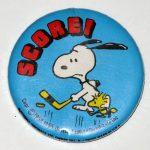Snoopy & Woodstock Hockey Button