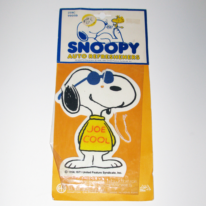 Joe Cool Air Freshener Collectpeanuts Com