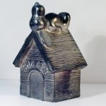 Snoopy on Doghouse Silver-Plate Bank