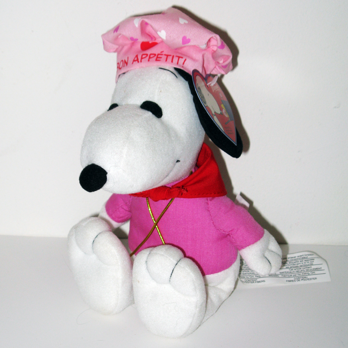 Valentine S Day Talking Toys : Snoopy chef valentine s day plush collectpeanuts