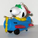 Snoopy Joe Cool in Blue Plane PVC Ornament