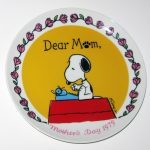 Snoopy writing letter 1979 Mother's Day Plate