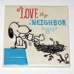 Snoopy & Woodstock sharing Coffee Plaque