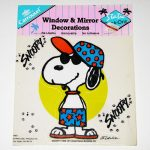 Snoopy Joe Cool Static Stick-Ons Window Cling