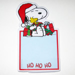 Snoopy & Woodstock with Christmas Presents Notepad