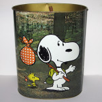 Snoopy & Charlie Brown Outdoor Theme Wastebasket