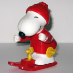 Snoopy Skis Wind Up Action Toy