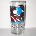 Snoopy Football Glass