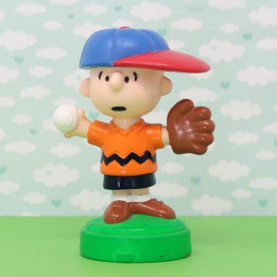 Charlie Brown baseball Playdoh Topper Figurine