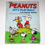 Peanuts Baseball Vintage Coloring Book