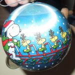 1982 Snoopy & Woodstock Hallmark Christmas Satin Ball Ornament