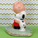 Charlie Brown Snoopy Hugging Figurine