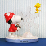 Snoopy & Woodstock with Snowflake Ice Sculture Figurine