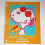 Snoopy & Woodstock School Year Calendar - 1992-1993